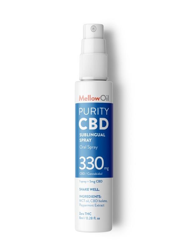 buy mellow sublingual thc free cbd spray