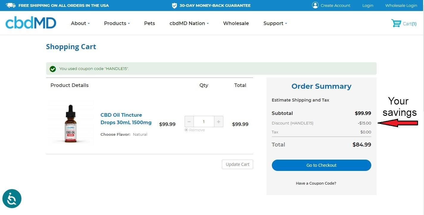 cbdmd coupon code savings