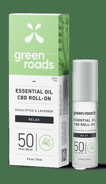 green roads cbd essential oil 50mg cbd roll on