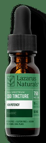 lazarus naturals high potency full spectrum cbd tincture