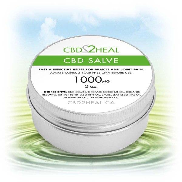 CBD2HEAL CBD Healing Salve Cream 1000mg