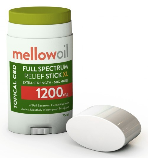 mellow oil topical full spectrum cbd relief stick